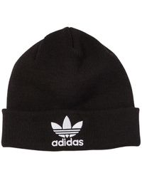 adidas Originals - Logo Embroidered Knit Beanie Hat - Lyst