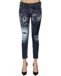 "DSquared² - Jeans ""cool Girl"" In Denim Destroyed - Lyst"