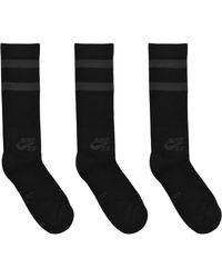 Nike - Sb 3 Pairs Of Cotton Crew Socks - Lyst