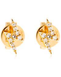 EF Collection - Diamond Lightning Bolt Stud Earrings - Lyst