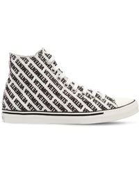 Vetements - Logo Printed Canvas High Top Sneakers - Lyst