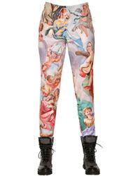 Moschino - Fresco Printed Jersey Pants - Lyst