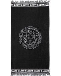Versace - Two Tone French Terry Beach Towel - Lyst
