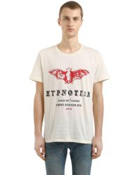 Lyst Gucci Cotton Jersey T Shirt W Imitation Print In White For Men