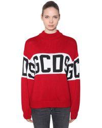 Wool Lyst Blend Knit Sweater Gcds Logo Intarsia qtAx4YqSwE