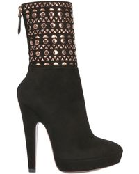 Alaïa | 135mm Studded Suede Boots | Lyst