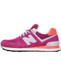 New Balance - 574 Suede & Mesh Trainers - Lyst