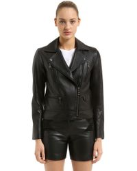 Karl Lagerfeld - Nappa Leather Biker Jacket - Lyst