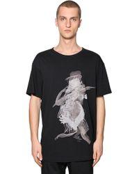 Yohji Yamamoto - Over Printed Cotton Jersey T-shirt - Lyst