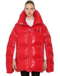 CALVIN KLEIN 205W39NYC - Oversized Open Sleeves Nylon Down Coat - Lyst
