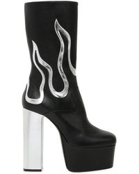 DSquared² - 170mm Flames Leather Ankle Boots - Lyst