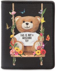 Moschino - Teddy Printed Snap Wallet - Lyst