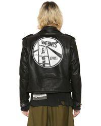 Enfants Riches Deprimes - Hand-painted Leather Biker Jacket - Lyst