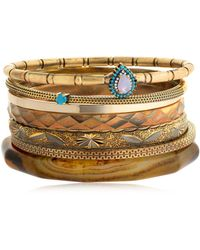 Iosselliani - Set Of 7 Bangle Bracelets - Lyst