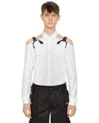 Moschino - Cotton Shirt W/ Suspender Straps - Lyst