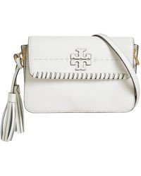 Tory Burch - Mcgraw Whipstitch Leather Shoulder Bag - Lyst
