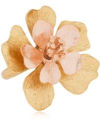 "Oscar de la Renta - Anello ""bold Flower"" - Lyst"