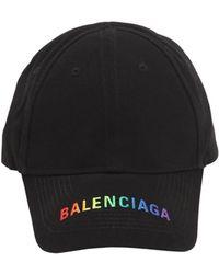 Balenciaga - Cappello Baseball In Gabardina Di Cotone - Lyst 2fab3d6a62db