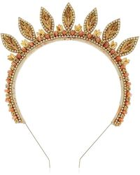 Deepa Gurnani - Leaves Embellished Headband - Lyst