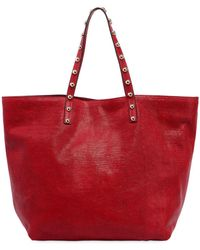 RED Valentino   Lizard Embossed Leather Tote Bag   Lyst