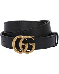 8fd6126b2 Gucci - 15mm Gg Marmont Leather Belt - Lyst