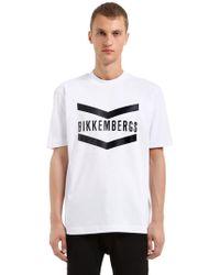 Bikkembergs - Oversized Logo Cotton Jersey T-shirt - Lyst