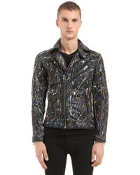 HTC Hollywood Trading Company | Hand-painted Leather Biker Jacket | Lyst