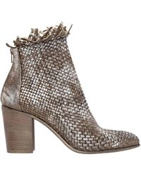 Strategia | 80mm Woven Metallic Leather Ankle Boots | Lyst