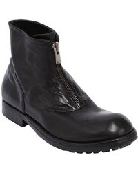 Preventi - Zipped Leather Boots - Lyst