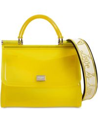 Dolce   Gabbana - Sicily Faux Patent Leather Bag - Lyst 53d0905ab869b