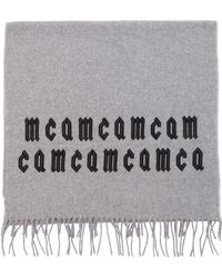 McQ - Mcq Embroidered Fringed Wool Scarf - Lyst