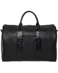 Fendi - Ff Embossed Leather Duffle Bag - Lyst