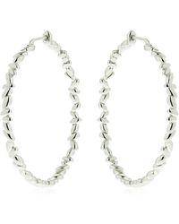 Bea Bongiasca - Silver Circle Rice Hoop Earrings - Lyst