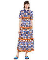 Stella Jean Kleid Aus Plissierter Baumwolle