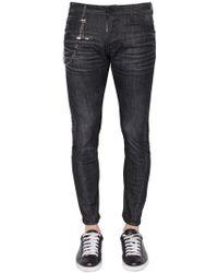 DSquared² - 16cm Jeans Aus Stretch-denim Mit Kette - Lyst