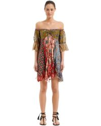 Anjuna - Off-the-shoulder Patchwork Dress - Lyst