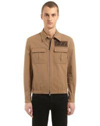 Fendi - Signature Ff Light Gabardine Jacket - Lyst