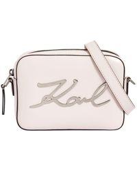 """Karl Lagerfeld - Borsa """"k/signature"""" In Pelle - Lyst"""