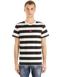 G-Star RAW - Prison Stripe Print Cotton T-shirt - Lyst