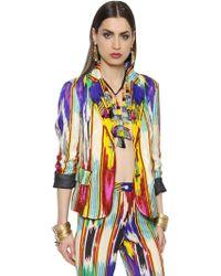 Etro - Embossed Printed Silk Blend Jacket - Lyst