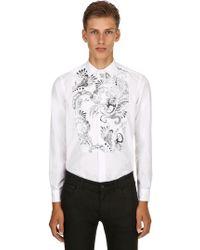 Etro - Besticktes Hemd Aus Baumwollpopeline - Lyst