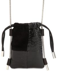 Alexander Wang - Ryan Patchwork Suede & Leather Pouch - Lyst