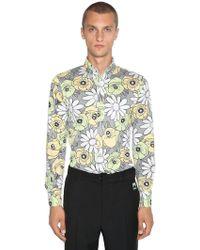 Prada - Hemd Aus Baumwolle Mit Blumendruck - Lyst