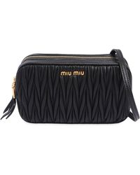 Miu Miu | Double Zip Quilted Leather Camera Bag | Lyst