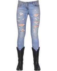 Faith Connexion | Destroyed Skinny Cotton Denim Jeans | Lyst