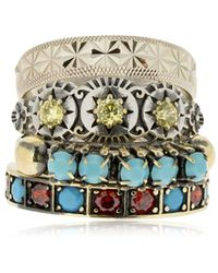 Iosselliani - Set Of 4 Rings - Lyst