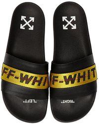 Off-White c/o Virgil Abloh - Sandalias Planas Con Banda Con Logo - Lyst