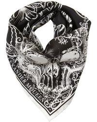 Alexander McQueen - Skull Moth Silk Bandana - Lyst