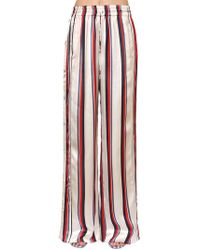 Monse - Striped Satin Wide Leg Track Trousers - Lyst
