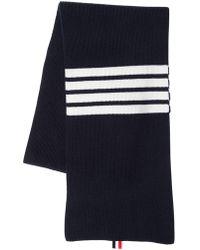 Thom Browne - Cashmere Rib Kit Scarf W/ Stripes - Lyst